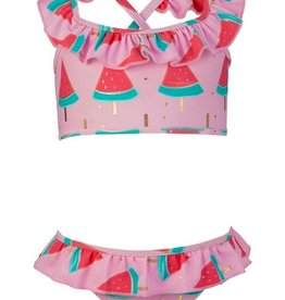 Snapper Rock Snapper Rock Watermelon Ruffle Bikini