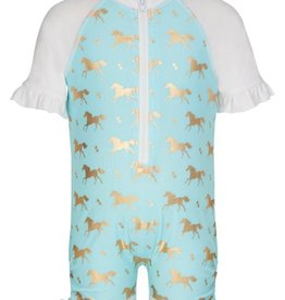 Snapper Rock Snapper Rock Gold Horse Sunsuit