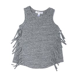 Joah Love Joah Love Teagan Fringed Triblend Jersey Tank Top