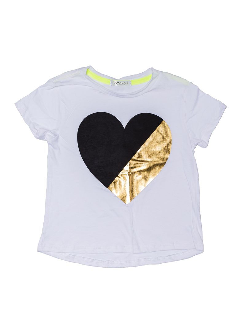 Joah Love Joah Love Jayden 2-Tone Heart Print Top