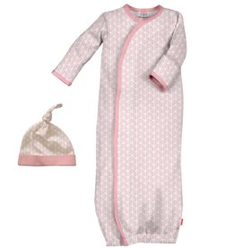Magnificent Baby Magnificent Baby Cable Leaf Modal Gown and Hat Set
