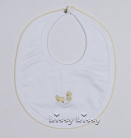 kissy kissy Kissy Kissy Darling Duckies Reversible Bib