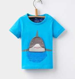 Joules Joules Shark Applique Tee Shirt