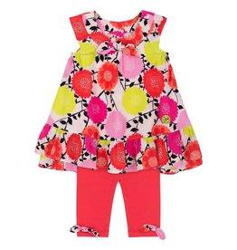 deux par deux Deux Par Deux So happy Baby Floral Dress & Legging Set