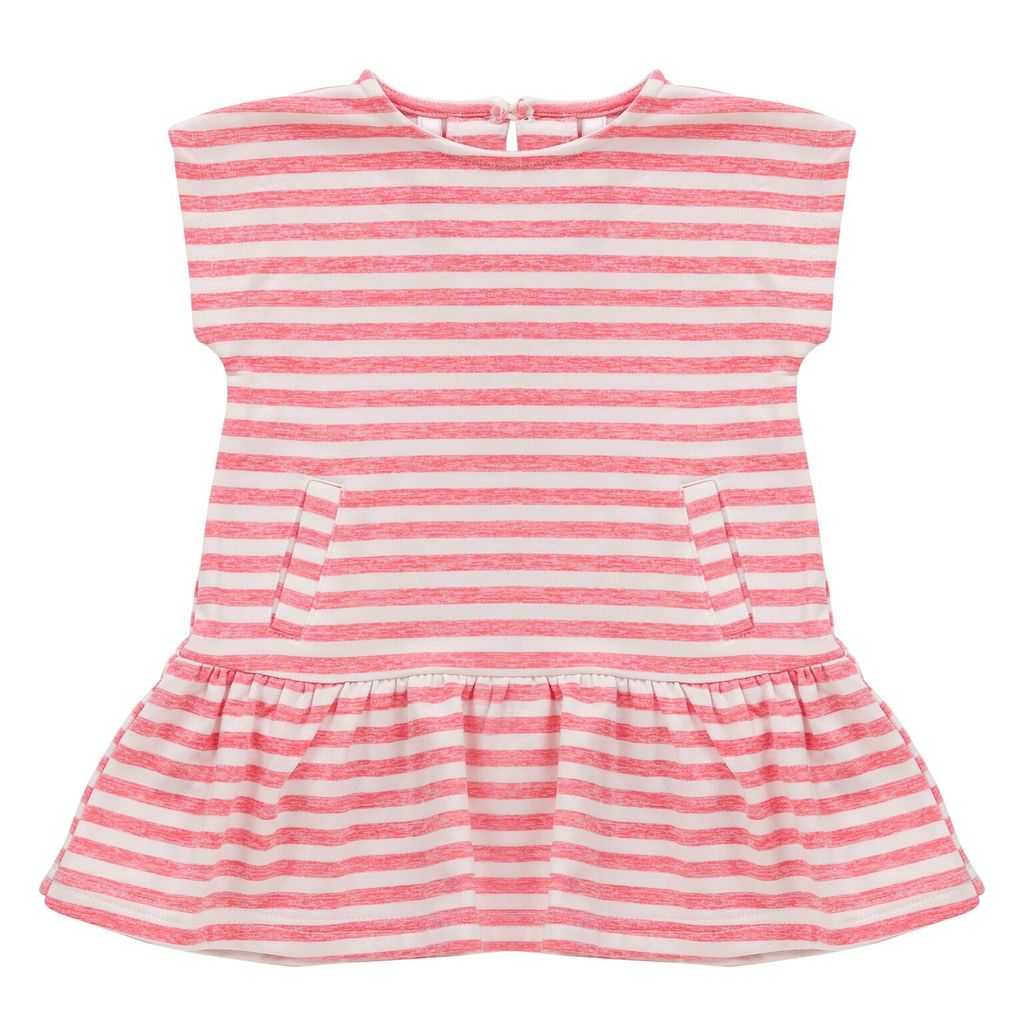 deux par deux Deux Par Deux French Terry Striped Dress