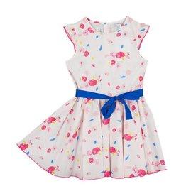 Petit Bateau Petit Bateau Floral Short Sleeve Ruffle Dress