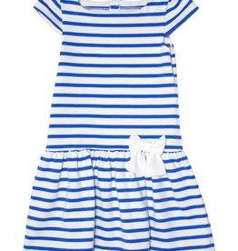 Petit Bateau Petit Bateau Short Sleeve Striped Dress with Bow