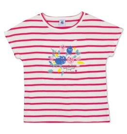 Petit Bateau Petit Bateau Short Sleeve Striped Tee with Floral Graphic & Skirt Set
