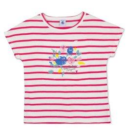 Petit Bateau Petit Bateau Short Sleeve Striped Tee with Floral Graphic & Skirt Set