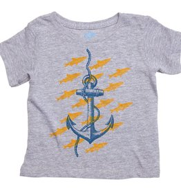 Pink Chicken Pink Chicken Anchor Graphic Tee Gray