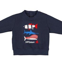 Petit Bateau Petit Bateau Sweat Shirt with Fish Graphic