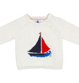 Petit Bateau Petit Bateau Sweater with Boat Graphic