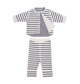 Petit Bateau Petit Bateau Striped Top with Pants & Cardigan Set *More Colors*
