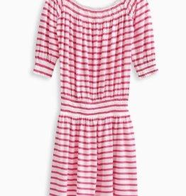 Splendid Splendid Off the Shoulder Stripe Dress