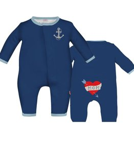 Magnificent Baby Magnificent Baby Sailor Embroidered Coverall
