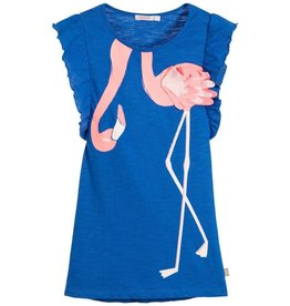 Billieblush Billieblush Ruffle Trim Flamingo Jersey Dress