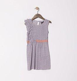 ikks IKKS Sleeveless  Printed Dress with Ruffle
