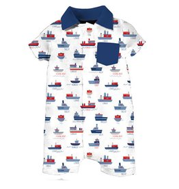 Magnificent Baby Magnificent Baby Sailor Polo Romper