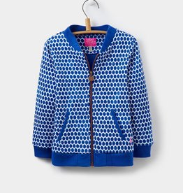 Joules Joules Jessie Pool Blue Spot Bomber Jacket