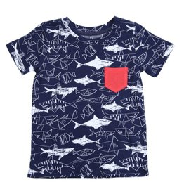 Egg Egg Shane Shark Pocket Tee