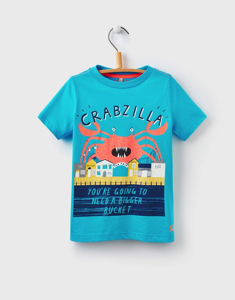 joules joules ben crab print t shirt tiny hanger