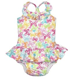 i play i play Tropical Ruffle Swim Diaper Swimsuit Butterfly