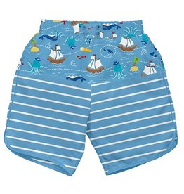 i play i play Pirate Ship Board Shorts with Swim Diaper
