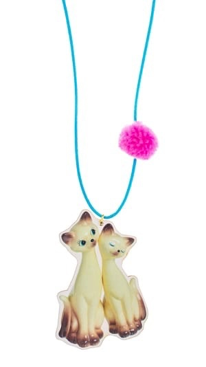 "Little Lux Little Lux ""I am Siamese"" Cat Necklace"