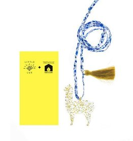 Little Lux Little Lux Goldie the Alpaca Necklace
