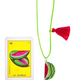 Little Lux Little Lux Watermelon Love Necklace