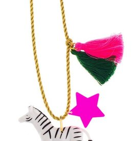 Little Lux Little Lux Zoe the Zebra Necklace