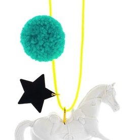 Little Lux Little Lux Wild and Free Pom Pom Necklace