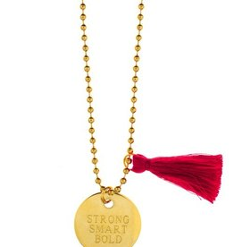 "Little Lux Little Lux Girls Inc ""Strong, Smart, Bold"" Necklace"