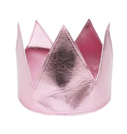 Oh Baby Oh Baby Pink Metallic Crown Toddler