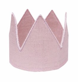 Oh Baby Oh Baby Pink Linen Crown Infant