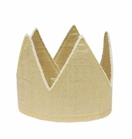 Oh Baby Oh Baby Gold Linen Crown Toddler