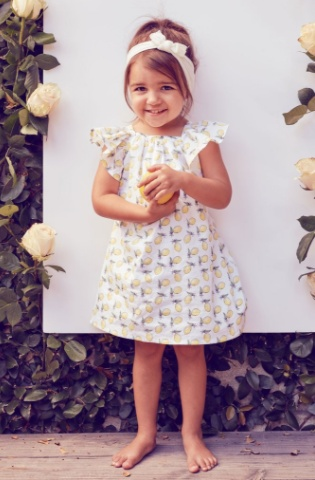 Lil' Lemons Lil' Lemons Lemondrop Toddler Dress