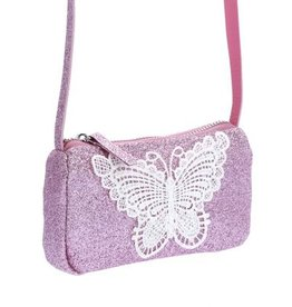 Peppercorn Kids Peppercorn Kids Glitter Purse with Butterfly Applique *More Colors*