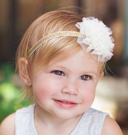 Peppercorn Kids Peppercorn Kids Little Girls Lace Flower Metallic Headband