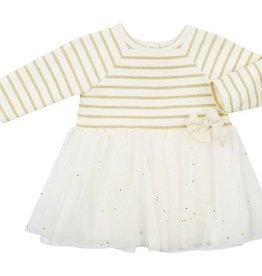 Petit Bateau Petit Bateau Striped Top and Tulle Skirt Dress