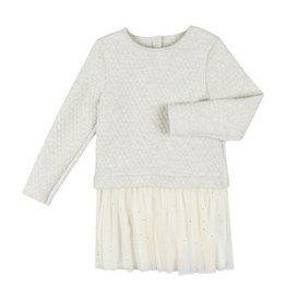 Petit Bateau Petit Bateau Longsleeve Dress with Quilted Top