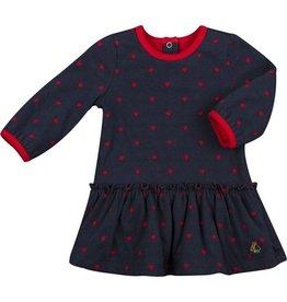 Petit Bateau Petit Bateau Longsleeve Heart Dot Print Dress