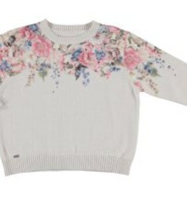 Mayoral Mayoral Floral Knit Sweater