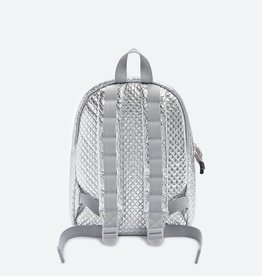 State State Mini Kane Backpack- Silver Quilted