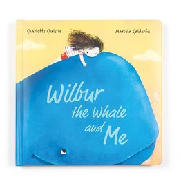 JellyCat Jelly Cat Wilbur Whale and Me Book