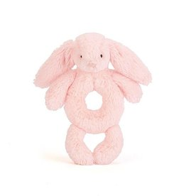 JellyCat Jelly Cat Bashful Pink Bunny Ring Rattle
