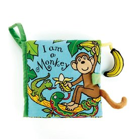 JellyCat Jelly Cat I am a Monkey Book