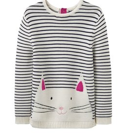 Joules Joules Cat Intarsia Sweater