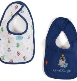 Magnificent Baby Magnificent Baby Good Knight Reversible Bib
