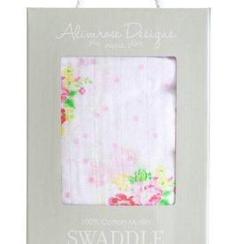 Alimrose Alimrose Muslin Swaddle Rose Floral Spots